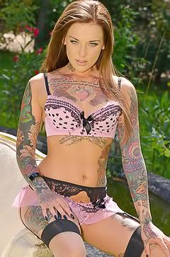 Tattoo fetish of Lauren