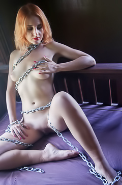 Kristell is tied and horny