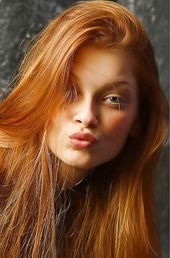 Beautiful redhead Ava