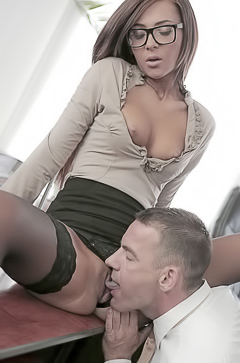 Horny sex in office