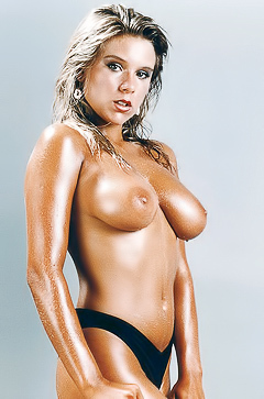 tanned oiled babe Samantha Fox