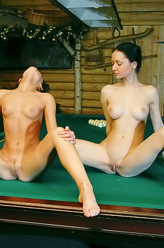 Two slut having fun in sauna