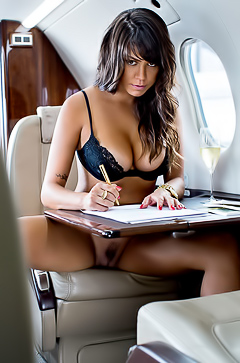 Taiana Camargo In Private Jet