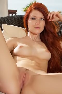 Sexy redhead pornstar Taccea