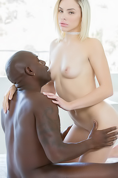 Blonde Kimberly Moss in interracial fuck