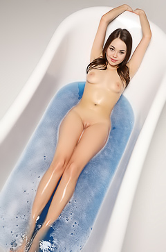 Asian Li Moon taking bath