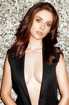 Sexy brunette Alison Brie