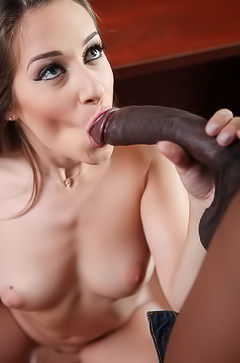 Cassidy Klein with huge black dick in her mouth
