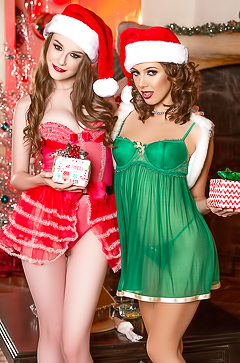Two Santa lesbians