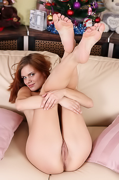 Young girl with long legs