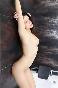 Katrina playing in bath