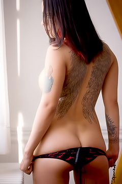 Sexy tattooed angel Nyx