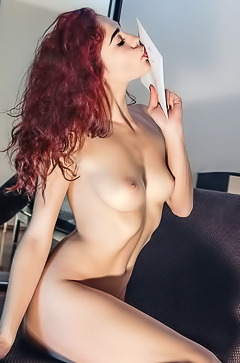 Horny and glamour redhead Callista