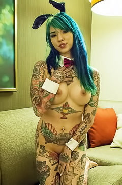 Fetish tattooed bunny