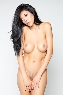 Asian model Heather Vahn in studio