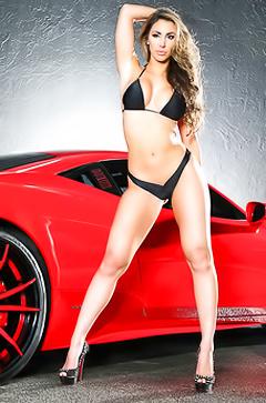 Super models and sport cars