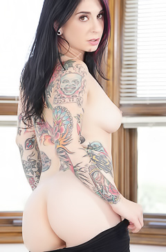 Slutty tattooed brunette Joanna Angel