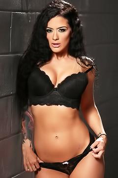 Delicious brunette MILF Katrina Jade