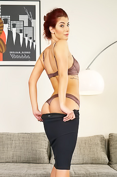 Shona River - striptease from smart secretary