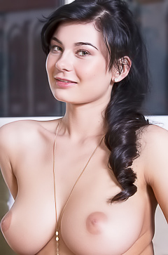 Lucy Li with perky boobs