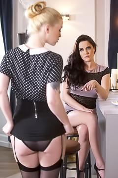 Glamour time with hot lesbians