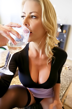 Glamour secretary Alexis Fawx undressing