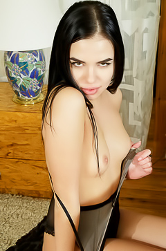 Hot And Charming Brunette Teen Venice Lei