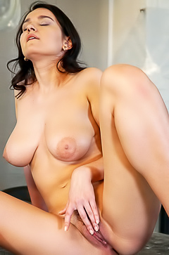 Masturbation with busty Sanita