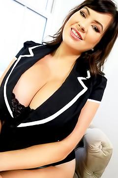Rachel Aldana and her protruding boobs