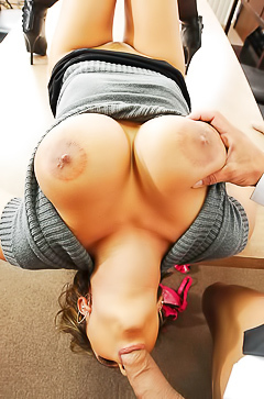Trina Michaels - throat hardcore in office
