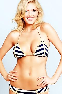Blonde Kate Upton in hot lingerie