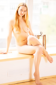 Sexy redhead Alexa E