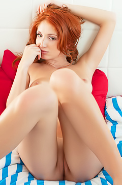 Michelle H - redhead hottie in your bed
