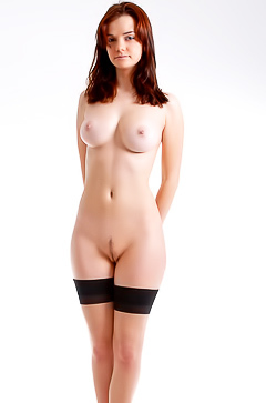 Nadin in sexy black stockings