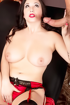 Noelle Easton is fucking in red lingerie