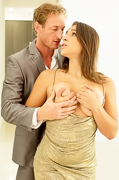 Abella Danger riding dick like a whore