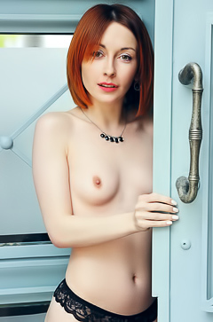 Simply Nude And Hot Redhead Night A